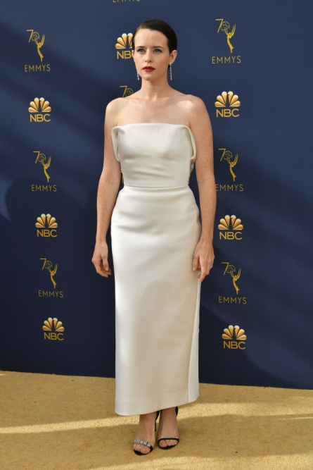 Mandatory Credit: Photo by Rob Latour/Variety/REX/Shutterstock (9883790jg) Claire Foy 70th Primetime Emmy Awards, Arrivals, Los Angeles, USA - 17 Sep 2018