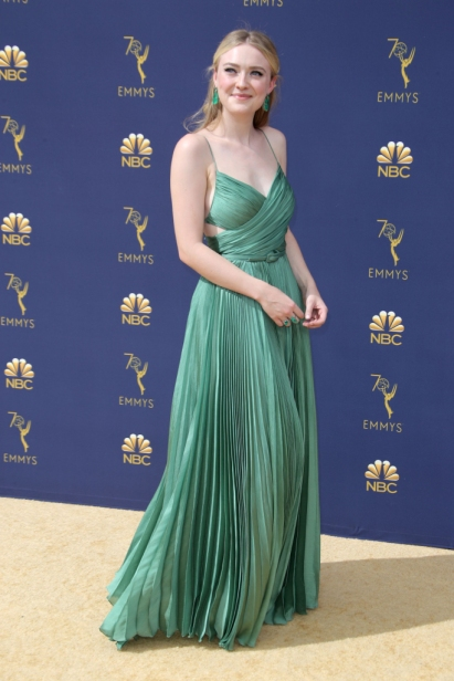 Mandatory Credit: Photo by Matt Baron/REX/Shutterstock (9883791ee) Dakota Fanning 70th Primetime Emmy Awards, Arrivals, Los Angeles, USA - 17 Sep 2018