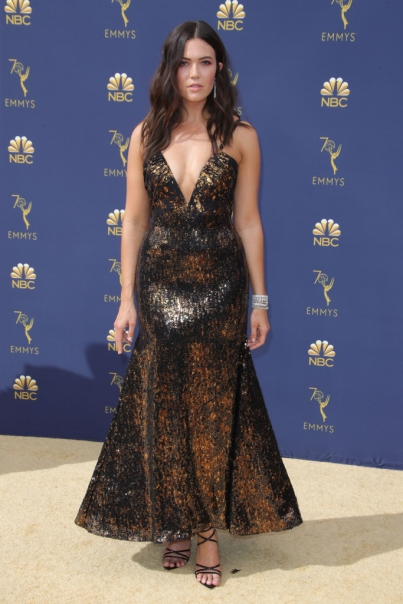 Mandatory Credit: Photo by Matt Baron/REX/Shutterstock (9883791gj) Mandy Moore 70th Primetime Emmy Awards, Arrivals, Los Angeles, USA - 17 Sep 2018