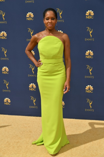Mandatory Credit: Photo by Rob Latour/Variety/REX/Shutterstock (9883790by) Regina King 70th Primetime Emmy Awards, Arrivals, Los Angeles, USA - 17 Sep 2018