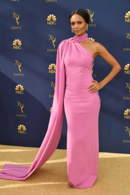 Mandatory Credit: Photo by Rob Latour/Variety/REX/Shutterstock (9883790jz) Thandie Newton 70th Primetime Emmy Awards, Arrivals, Los Angeles, USA - 17 Sep 2018