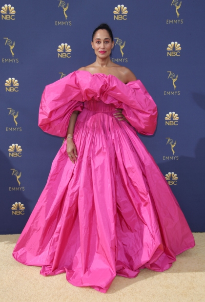 Mandatory Credit: Photo by Matt Baron/REX/Shutterstock (9883791iu) Tracee Ellis Ross 70th Primetime Emmy Awards, Arrivals, Los Angeles, USA - 17 Sep 2018