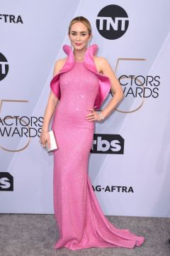 Mandatory Credit: Photo by Stewart Cook/Variety/REX/Shutterstock (10074814dv) Emily Blunt 25th Annual Screen Actors Guild Awards, Arrivals, Los Angeles, USA - 27 Jan 2019