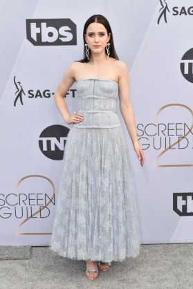 Mandatory Credit: Photo by Rob Latour/REX/Shutterstock (10072501ea) Rachel Brosnahan 25th Annual Screen Actors Guild Awards, Arrivals, Los Angeles, USA - 27 Jan 2019